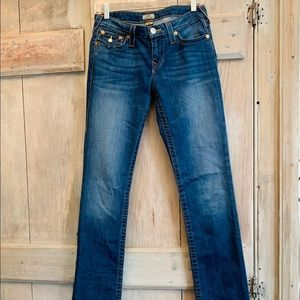 True Religion Jeans - True Religion   Cora Mid Rose Straight Jeans